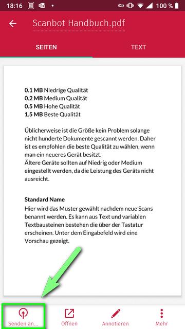 Scanbot Anleitung